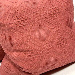 Ralph Lauren Home Bedding - Ralph Lauren New Diamond Weave Pillows Red Knit